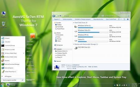 AeroVG Se7en for Windows 7
